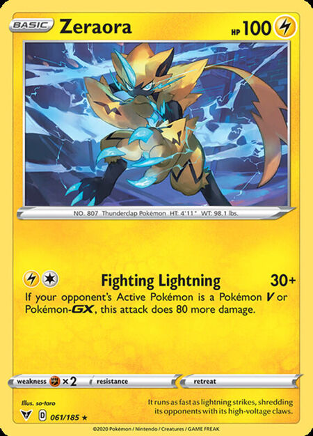 Zeraora Vivid Voltage 61