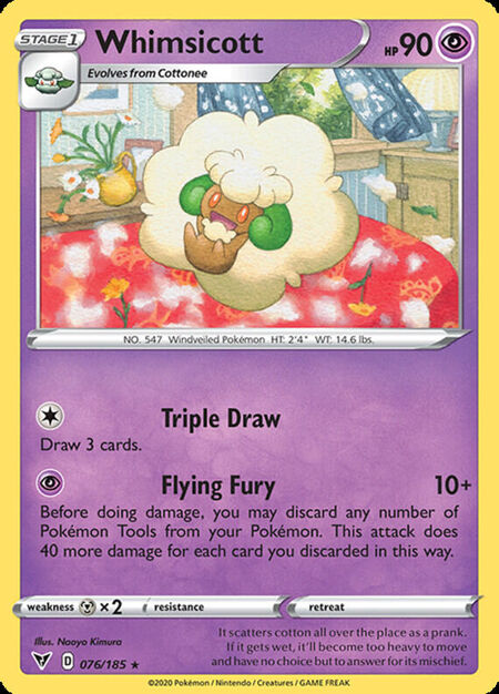 Whimsicott Vivid Voltage 76