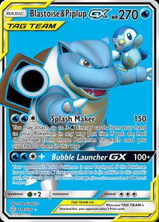 Blastoise & Piplup-GX (CEC 214)