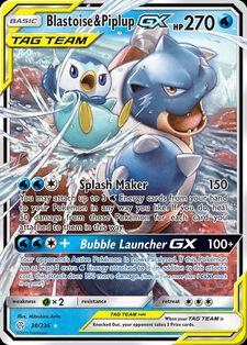 Blastoise & Piplup-GX (CEC 38)