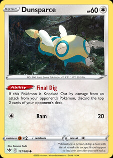 Dunsparce (DAA 137)