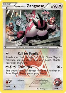 Team Magma's Zangoose (DCR 22)