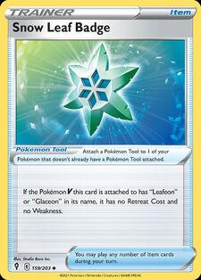 Snow Leaf Badge (EVS 159)