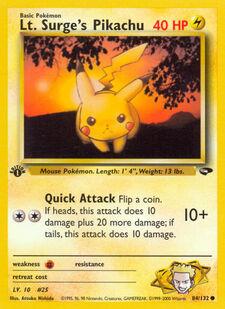 Lt. Surge's Pikachu (G2 84)