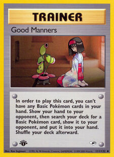 Good Manners (G1 111)