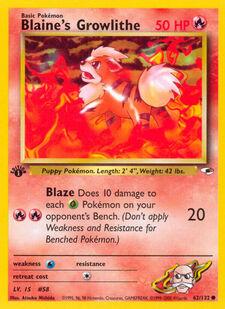 Blaine's Growlithe (G1 62)