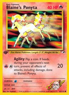 Blaine's Ponyta (G1 63)