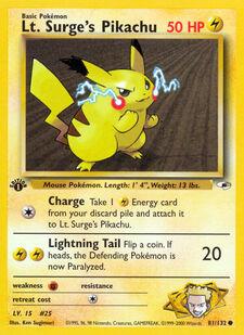 Lt. Surge's Pikachu (G1 81)