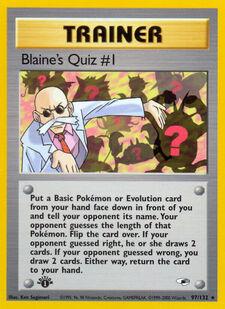 Blaine's Quiz #1 (G1 97)