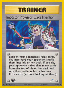 Impostor Professor Oak's Invention (N4 94)