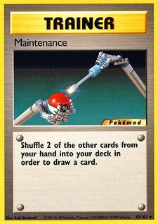 Maintenance (MODBS 83)
