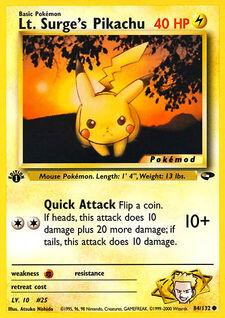 Lt. Surge's Pikachu (MODG2 84)