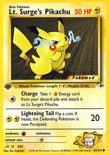 Lt. Surge's Pikachu (MODG1 81)