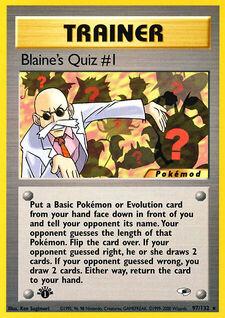 Blaine's Quiz #1 (MODG1 97)
