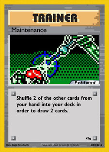 Maintenance (MODPXBS 83)