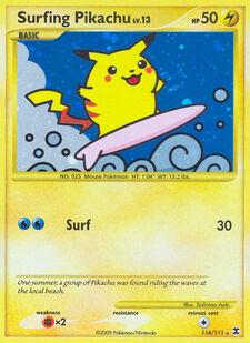 Surfing Pikachu (RR 114)