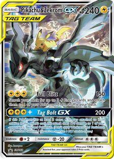Pikachu & Zekrom-GX (SMP SM168)