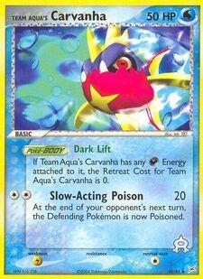 Team Aqua's Carvanha (MA 25)