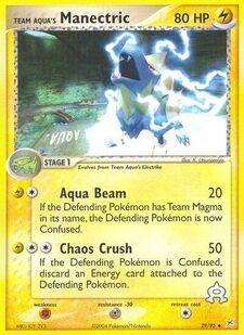 Team Aqua's Manectric (MA 29)